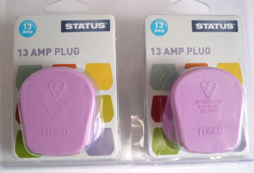 Statue 13amp plugtop Violet pack of two